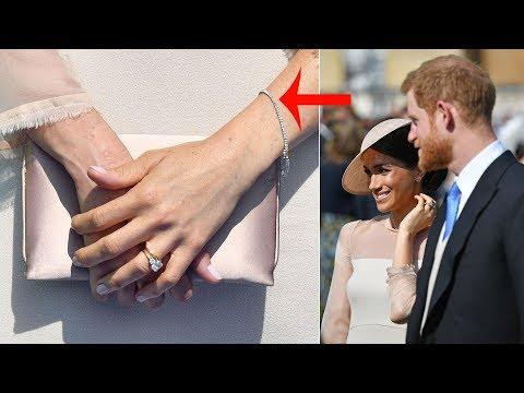 A present from Harry? Meghan wore diamond tennis bracelet a LOT like an £18,000 Cartier piece