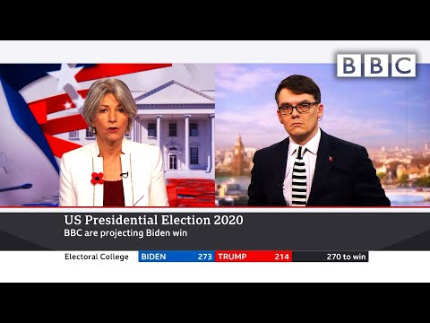Breaking 🔴 Biden wins 👉 BBC projects White House victory 🇺🇸 US Election @BBC News live - BBC