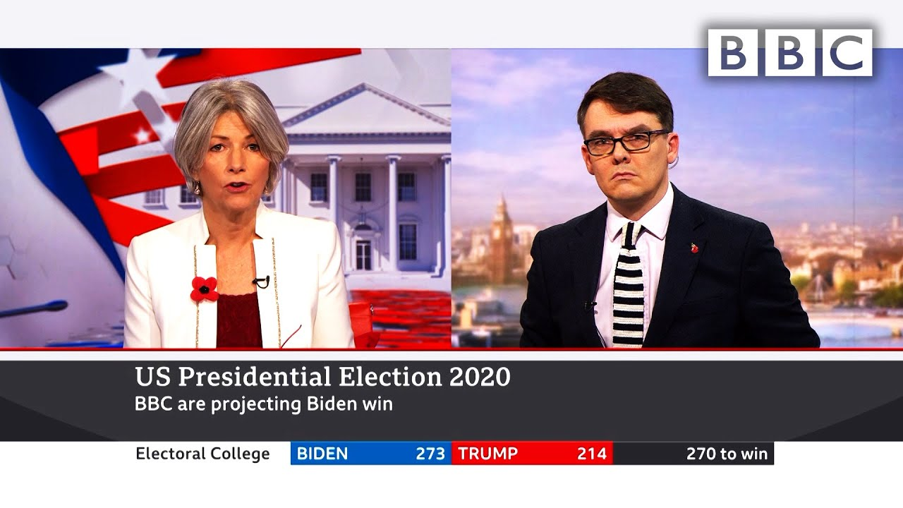 Breaking ? Biden wins ? BBC projects White House victory ?? US Election @BBC News live - BBC