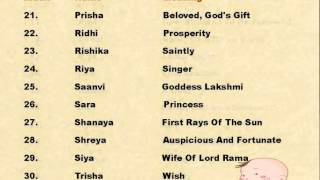 Popular Indian Baby Girl Names With Meanings