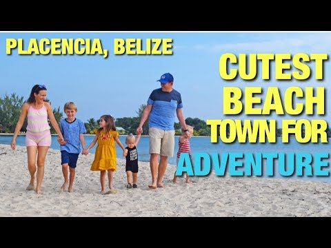 CUTEST BEACH TOWN FOR JUNGLE AND MAYAN ADVENTURES - PLACENCIA, BELIZE!!! | Adventure EIGHT