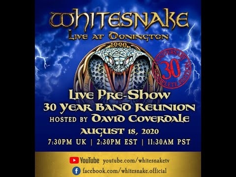 Whitesnake to stream Live At Donington 1990 with pre-show Q&A with reunited line-up!