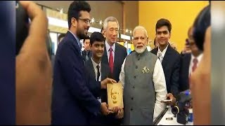 PM Modi meets young innovators from Gujarat in Singapore