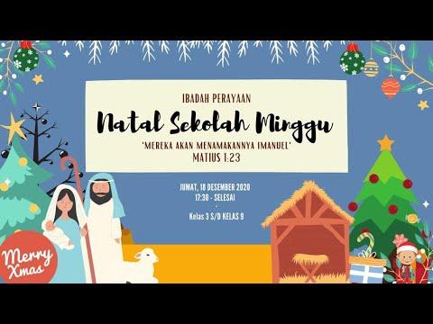 Ibadah Natal Sekolah Minggu Horong Besar Hkbp Rawamangun Youtube