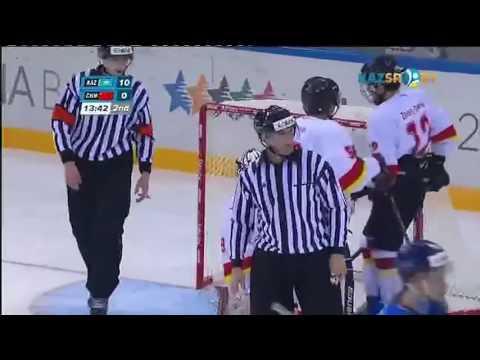 Хоккей. Казахстан 22-0 Китай!