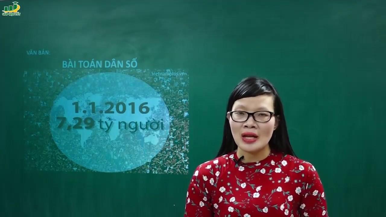 Ngữ Văn Lớp 8 – Bài giảng Bài toán dân số ngữ văn 8 | Cô Lê Hạnh
