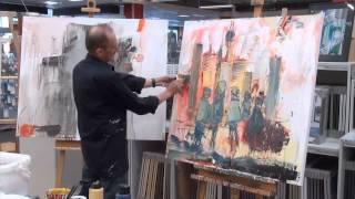 Peter Feichter - Abstrahierte Skyline  (boesner Stuttgart)