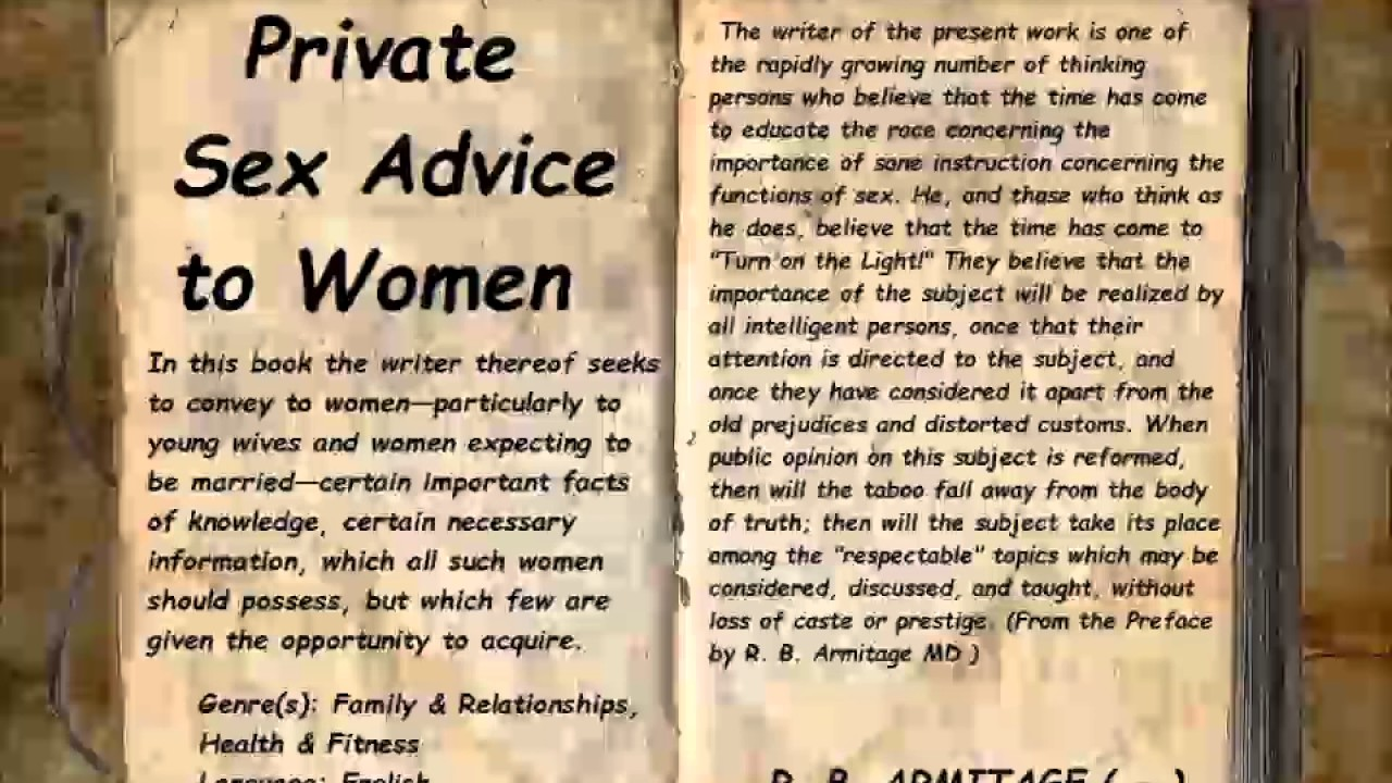 Womens sex advice