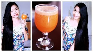 DIY Carrot Juice For Healthy Hair And Skin Plus Hair Growth Smoothie Recipe & A Challenge