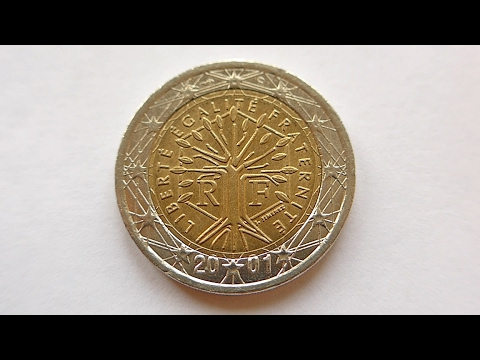 2 Euro Coin France 2001 Youtube