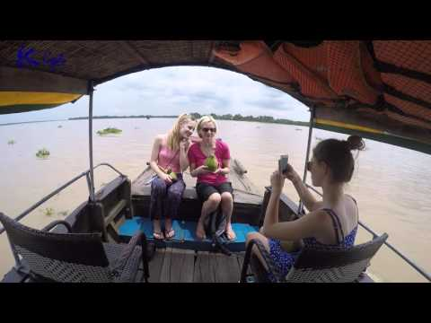 Shooting gun at Cu Chi, taking boat and cycling with Jullien family - Mekong delta