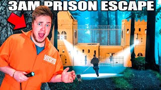 3AM BOX FORT Prison ESCAPE! Chased By Bounty Hunters