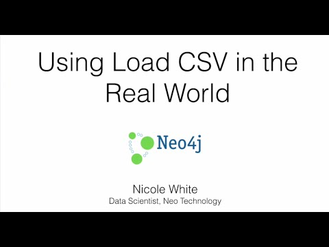 Using LOAD CSV in the Real World
