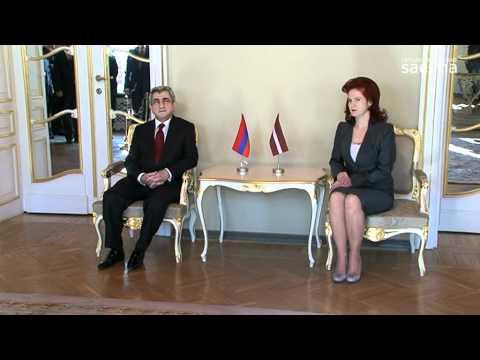 Saeimā viesojas Armēnijas prezidents