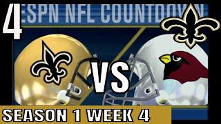 ESPN NFL 2K5 Saints Franchise - at Cardinals Full Game Cpu vs Cpu