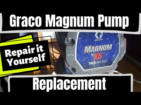 Graco Magnum X5, X7 [Airless Paint Sprayer Pump Replacement] (2019)