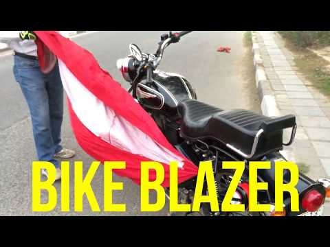 BIKE BLAZER *World's First SEMI AUTOMATIC Motorcycle Covering DEVICE* Indian Innovation PATENTED