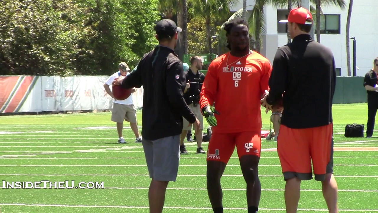 the best attitude 29039 33c09 Safety Jamal Carter at Miami Pro Day