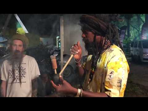 Rastafari burnin Steam Chalice in Jamaica!