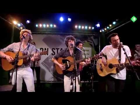 The Kooks - Around Town (Acoustic) @ 3 On Stage / Pinkpop 2014