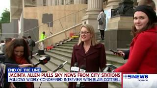 Nine News. Labor Bans Sky News On City Loop TVs.(Blair Cottrell)(AltRight Ban)