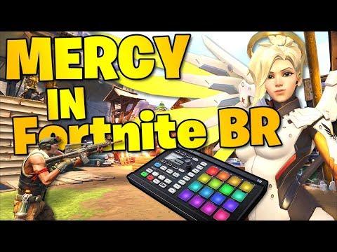 Using an Overwatch Mercy Soundboard in Fortnite BR Squads!! (Fortnite BR Trolling) [PG]