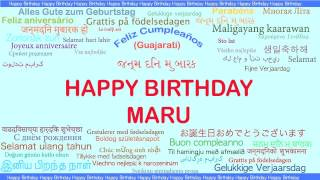 Maru   Languages Idiomas - Happy Birthday