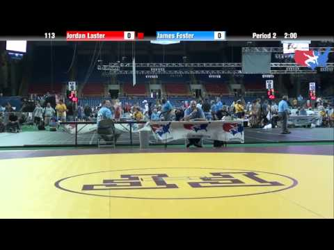 Fargo 2012 113 Round 2: Jordan Laster (Illinois) vs. James Foster (Colorado)