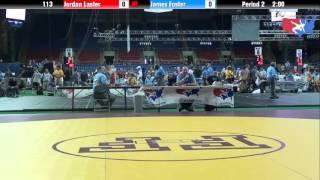 Fargo 2012 113 Round 2: Jordan Laster (Illinois) vs. James Foster (Colorado)
