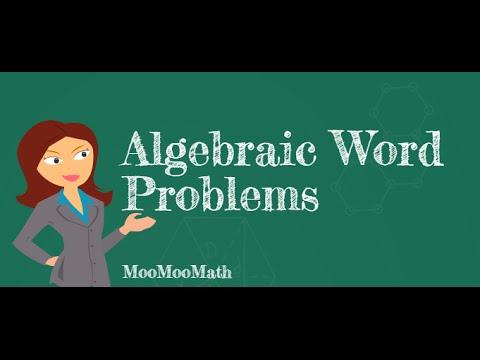 Setting up Algebraic word problems - YouTube