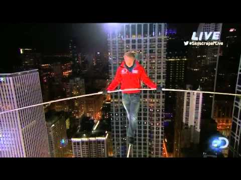 Nik Wallenda Tests The Wire Skyscraper Live YouTube - Nik wallendas epic blindfolded skyscraper tightrope walk