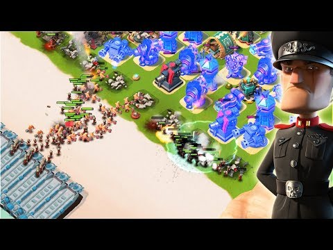 Will I Beat It?? Boom Beach Defending Hammerman WITHOUT Ice Statues!!