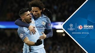 Melhores Momentos - Manchester City 5 x 3 Monaco - Champions League (21/02/2017)