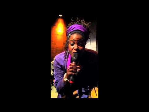 Sharon D Clarke jokes while performing