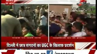 No more non-NET fellowships: Students protest outside UGC office