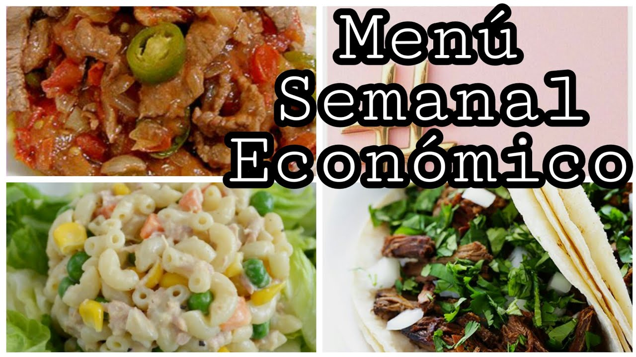 Menu semanal cocina economica