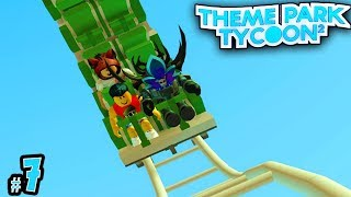COOLEST COASTER EVER! - TreeHouse Theme Park Tycoon #7 | Roblox