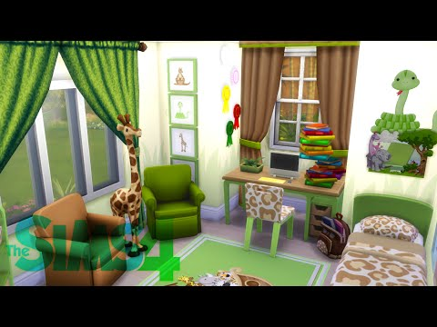 "Kids Bedroom Jungle Theme the sims 4: room building - ""jungle themed kid's bedroom"" - youtube"