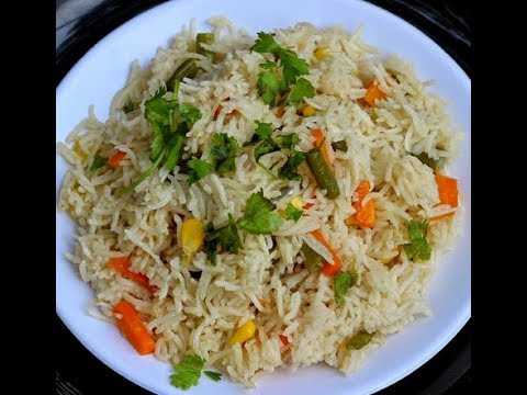 How To Cook Make Rice Pulao In Microwave In Hindi Youtube