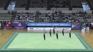 【稲取高校】2009 全国団体選手権男子新体操 静岡大会