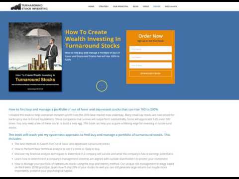 Free EBook How To Create Wealth Investing In Turnaround Stocks