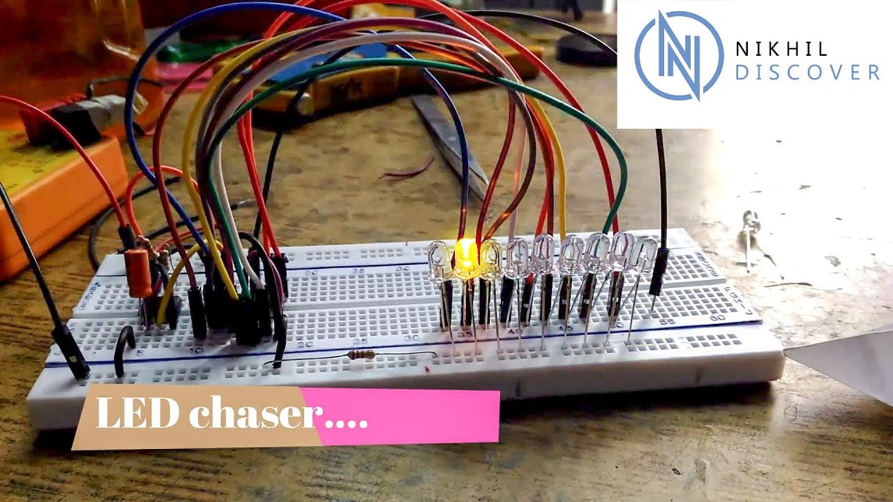 Led Chaser Youtube 555 Timer Astable Multivibrator Circuit Technology Hacking