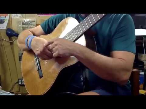 Classical guitar lessons right hand thumb technique.learn classical guitar.