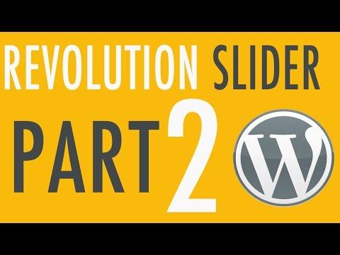 Revolution Slider in WordPress Part 2 of 3