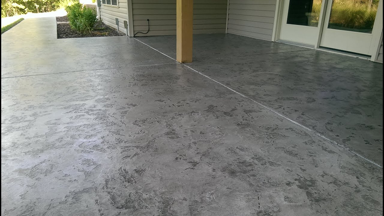 Decorative concrete tuscan slate acid stain antique for Acid wash concrete patio