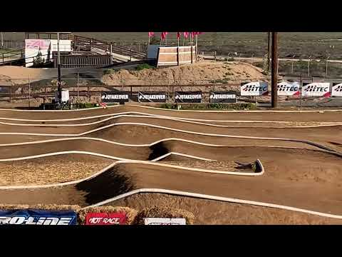 Ryan Lutz Doing Some Practice Laps With Agama A215T Nitro Truggy After Dirt Nitro Challenge 2019