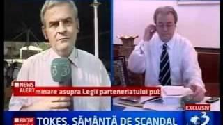 Vadim Tudor vs Laszlo Tokes   Autonomia Tinutului Secuiesc