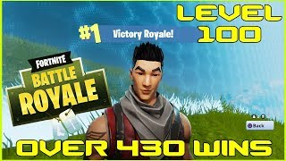 FORTNITE BATTLE ROYALE - LVL 100 - OVER 430 WINS - LIVE - (PS4 PRO) Full HD