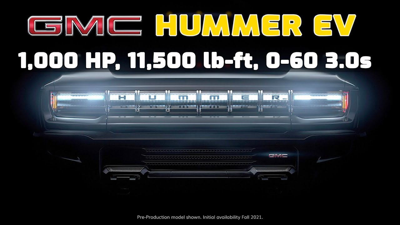 New Gmc Hummer Ev Teased Coming May 2020 Youtube