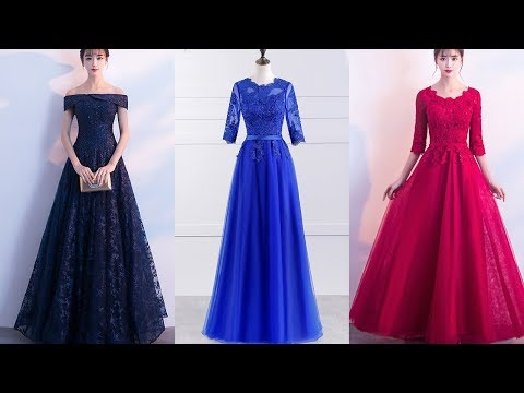 navy-blue-lace-evneing-dresses|royal-blue-bridesmaid-dresses|formal-evening-gowns-2018